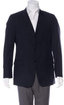 Calvin Klein Collection Striped Wool Blazer