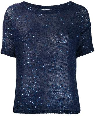 Snobby Sheep sequin knit top