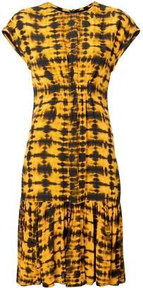 Proenza Schouler Tie Dye Short Sleeve Dress