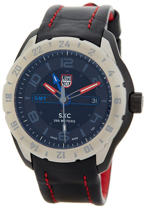 Luminox Men&s 5127 Space GMT Leather Strap Watch $795 thestylecure.com
