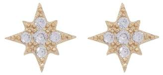 Shashi Eliza 18K Yellow Gold Plated Sterling Silver Burst Pave CZ Stud Earrings