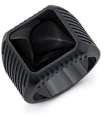 Room101 Titanium Block Onyx Ring