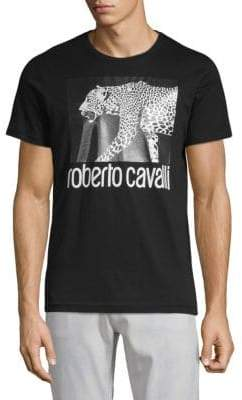 Roberto Cavalli Cheetah Cotton Tee