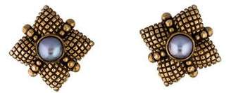 Stephen Dweck Clip-On Pearl Earrings