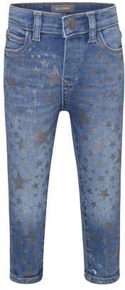 DL1961 DL 1961 Sophie Metallic Star Print Skinny Jeans, Size 12-24 Months
