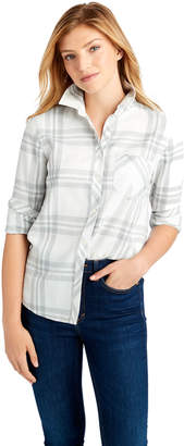 Vineyard Vines Ice Plaid Performance Flannel Chilmark Relaxed Button Down