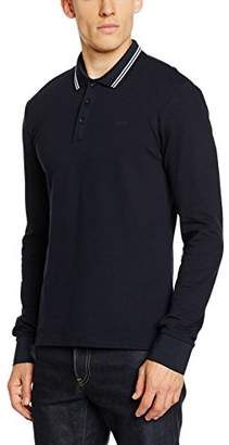 Armani Jeans Men's Slim Fit Long Sleeve Pique Polo Shirt
