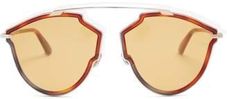 Christian Dior DiorSoReal tortoiseshell aviator-frame sunglasses