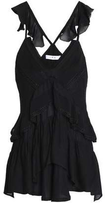IRO Tiered Georgette Top