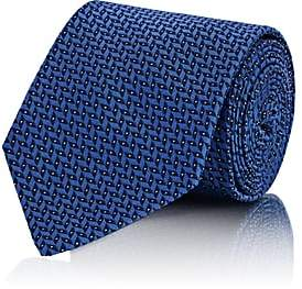 Ralph Lauren Purple Label MEN'S CHEVRON SILK NECKTIE-BLUE
