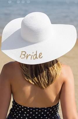 Cathy's Concepts Bride Sequin Straw Hat