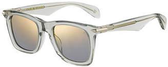 Rag & Bone Men's Square Translucent Acetate Sunglasses