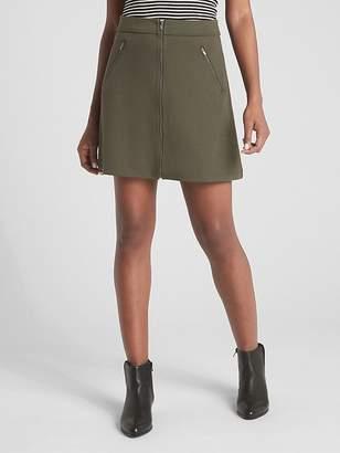 Gap Zip-Front Mini Skirt in Ponte