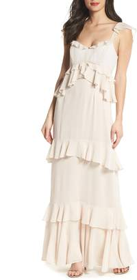 WAYF The Gywneth Ruffle Maxi Gown
