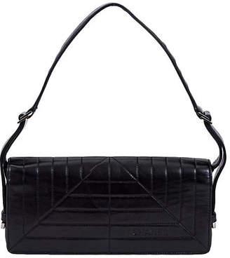One Kings Lane Vintage Chanel Black Lambskin Flap Bag