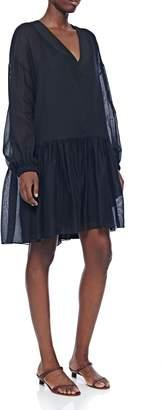 Tibi Spring Guaze V-Neck Short Dress
