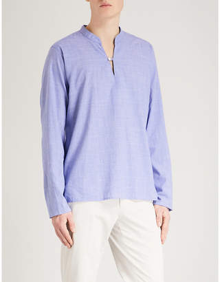 Eton Cross-hatch regular-fit cotton shirt