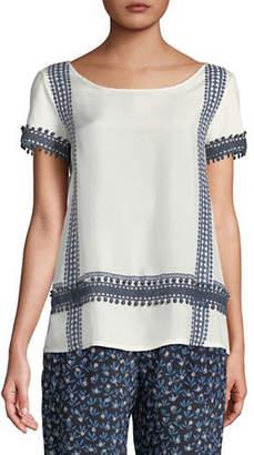 Max Mara Moda Embroidered Knit Top