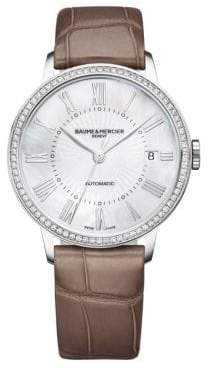 Baume & Mercier Classima 10222 Stainless Steel& Alligator Strap Watch