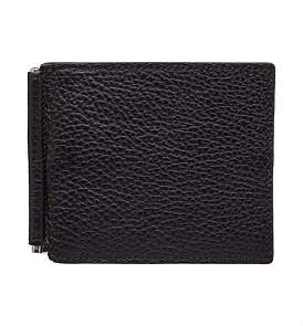 Canali Leather Clip Card Wallet