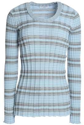 Sonia Rykiel Striped Ribbed Cotton Sweater