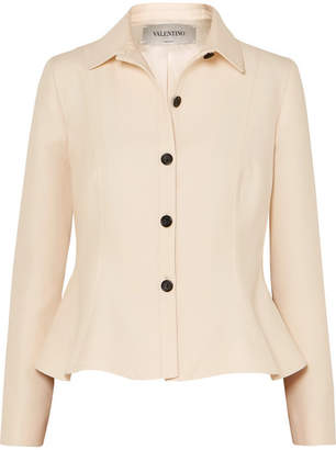 Valentino Wool And Silk-blend Jacket - Ivory