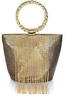 Whiting & Davis Women's Bracelet Fringe Bucket Bag