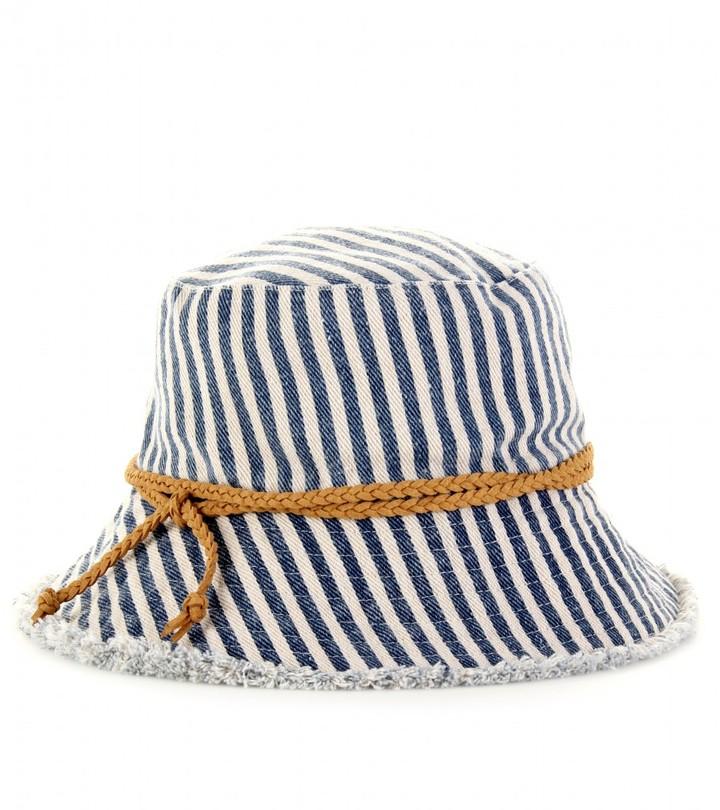 Hat Attack STRIPED DENIM HAT