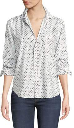 Frank And Eileen Star-Print Cotton Button-Down Long-Sleeve Top
