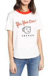 ban.do Yes You Can Cotton Ringer Tee