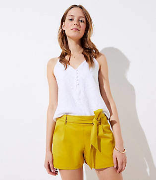 LOFT Knit Tie Waist Shorts