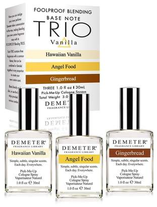 Demeter Fragrance Library 3-Piece Vanilla Blending Set - Angel Food, Gingerbread, Hawaiian Vanilla - 1.0 oz.
