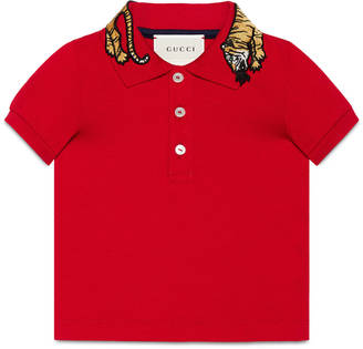 Baby cotton polo with tiger $230 thestylecure.com