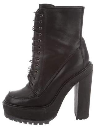 Givenchy Lace-Up Leather Platform Boots