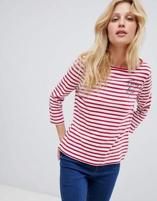 Tommy Hilfiger Denim Tommy tilly logo stripe long sleeved t-shirt
