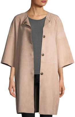 Yves Salomon Double-Face Lamb Leather Coat