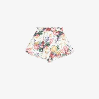 Zimmermann Allia high-waisted floral shorts