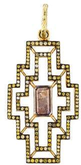 Loree Rodkin 18K Diamond Geometric Pendant