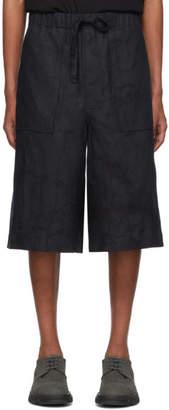 Issey Miyake Navy Rocketsu Shorts