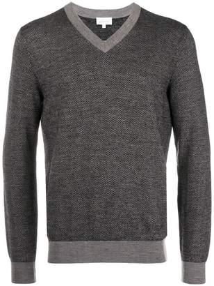 Brioni v-neck patterned jumper