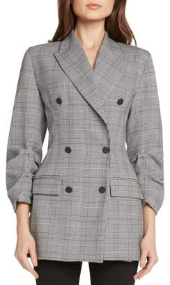 Willow & Clay Double Breasted Plaid Jacket