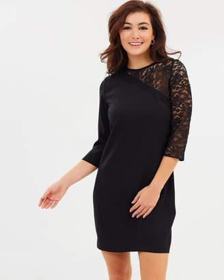 Dorothy Perkins Lace Asymmetric Shoulder Shift Dress