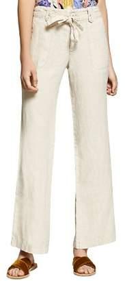 Sanctuary Short Line Wide-Leg Linen Pants