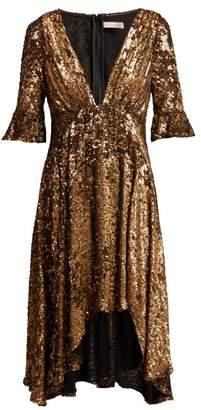 Maria Lucia Hohan Arielle Sequinned Midi Dress - Womens - Bronze
