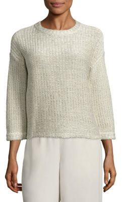 Eileen Fisher Cotton Jacquard Box Tee $278 thestylecure.com
