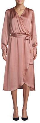 ABS by Allen Schwartz COLLECTION Satin Wrap Dress