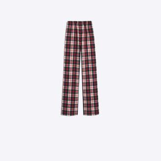 Balenciaga Flanel tartan pants with single patch pocket at back