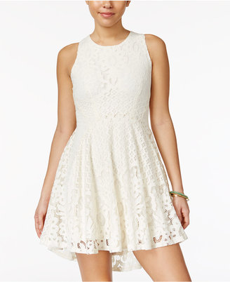 American Rag Lace High-Low Fit & Flare Dress, Only at Macy's $69.50 thestylecure.com