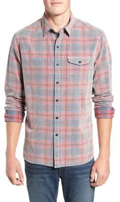 Michael Bastian Regular Fit Plaid Corduroy Shirt