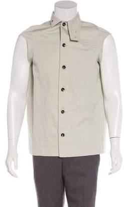 Rick Owens Waxed Denim Button-Up Vest